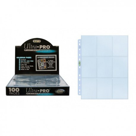 Hojas Album Ultro Pro Platinum Series transparentes