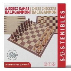 Ajedrez, Damas, Backgammon