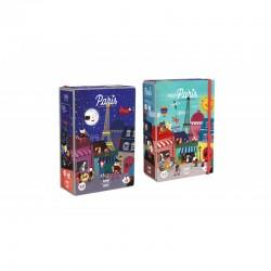 Puzzle Night & day in Paris 36 piezas